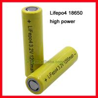 Buy cheap LiFePo4 18650 1200mAh 10-15C Hight Discharge Battery from wholesalers