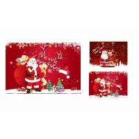 Buy cheap 12 x 17cm 2 Images 3d Lenticular Photo Merry Christmas Greeting Card For Gift product