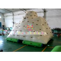 China Safe Inflatable Floating IceBerg / Inflatable Air Blower Water Climbing Rock on sale