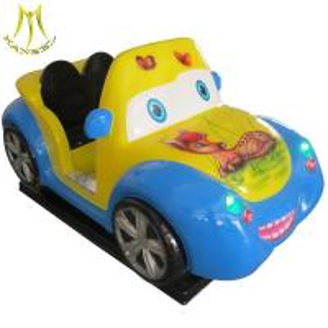 China Hansel cheap indoor toy mini coin ride bus china mini kids ride kiddie ride fiberglass toys on sale