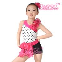 Buy cheap Children'S Dance Costumes Black Polka Dots Top Biketard Ballet Dance Costume product