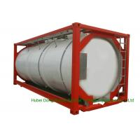 Buy cheap 316 Stainless Steel 20 FT ISO Bulk Liquid Tank Container For Hazardous Liquids product