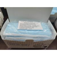 Buy cheap Adult Civilian 3 Ply Disposable Face Mask , Disposable Pollution Mask Easy To Use product