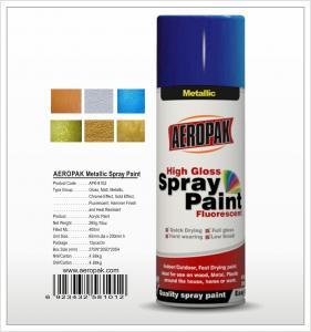 Buy cheap Aeropak  aerosol can 400ml 10oz metallic spray paint with all colors acrylic product