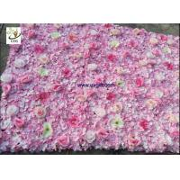 Buy cheap UVG pink hydrangea wedding flower wall for stage background decoration CHR1148 from wholesalers