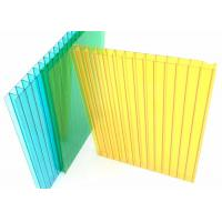 Buy cheap Colored Twin Wall Polycarbonate Sheet 10mm Thick Two Layers 1.2g/cm3 Desity product