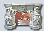 Buy cheap Home decoration elegant natural indoor carved marble fireplace product