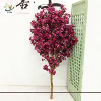 Buy cheap UVG Festive Wreaths Latex Flower Arrangements Rose Color Artificial Cherry Tree from wholesalers