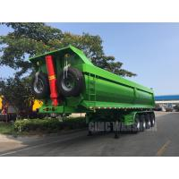 China hydraulic tipping trailer 4 axles tipper trailer tipper semi trailer for sale on sale