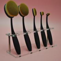 Buy cheap Clear Acrylic 5pcs Brush Foundation Makeup Brushes Holder Shelf Display Stand product