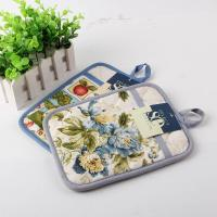 Buy cheap Terry Cloth Cotton Kitchen Dual Useage Pot Holder / Kitchen Oven Mitts with Flower Printed product