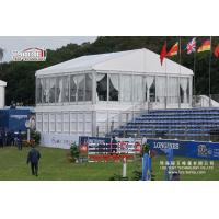 China High End Auction Cube Structure Double Decker Tent With Two Floors on sale