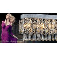 Buy cheap Modern minimalist fashion creative rectangular crystal chandeliers product