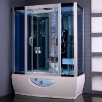 Buy cheap Tempered Glass Rectangular Shower Enclosure Steam Tub Shower Combo With Shower Handle product