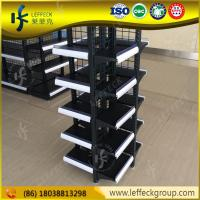 Hot sale retail metal 5 layers floor standing supermarket food display rack