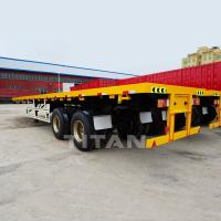 Buy cheap TITAN 2 Axles 40ft Flatbed Trailer product