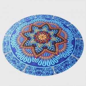 Buy cheap Customized pattern Mandala printed round yoga mat natural rubber mat meditation from wholesalers