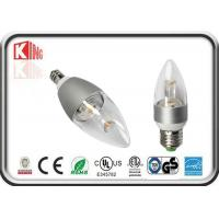 Buy cheap 360Degree E27/ E14/ B22LED Candle Bulbs Dimmable Clear Cover Energy Saving product