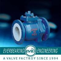 Buy cheap PTFE Lining Stainless Steel Ball Valve , PTFE Lined Valves product