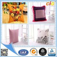 Buy cheap Shrink Resistant Printed Fashion Chair Seat Pillow / Decorative Cushion Covers With Polyester Filling product