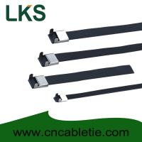 Buy cheap 8×300mm L Type PVC coated stainless steel cable tie product