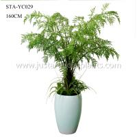 Quality 160CM Artificial Fern Arrangements Decorative Non Toxic With Plastic Pot for sale