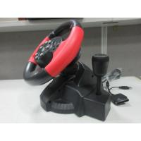 China video game steering/ racing wheel with foot pedal for PC, X-INPUT, PS2, PS3 on sale