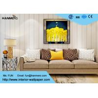 Beige Stripe Non Woven Contemporary Wall Coverings for Living Room