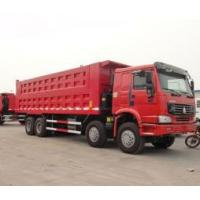8x4 powerful engine 50 tons heavy duty dump truck 266h-375ph with flat roof cabin