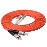 Buy cheap Durable Multimode Fiber Optic Cable 1m 3ft LC UPC To FC UPC Duplex 2.0mm PVC OM1 product