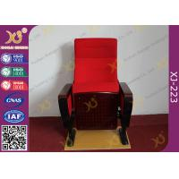 Buy cheap Modern Conference Room Chairs With Writing Pad In Arm / Metal Frame product