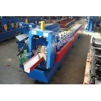 Buy cheap 18 Roller Stations Rain Gutter Forming Machine With Manual / Hydraulic Uncoiler product