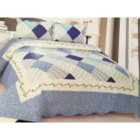 Buy cheap Comfotable Quilt Bedding Set , Cotton Comforter Sets Border In Wave Or Straight product