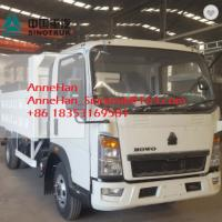 Buy cheap Euro3 Mid Liftting SINOTRUK Howo7 Light Duty Dump Truck LHD 4x2 116HP 5-7T load from wholesalers