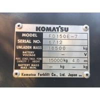 Buy cheap used diesel 2012 model 15ton komatsu forklift truck FD150E-7 low work hrs widely used in ports and factory product
