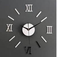 Buy cheap DIY 3D Roman Numbers Mirror Style Multi-Color Wall Clock Home Decor Mirror Wall from wholesalers