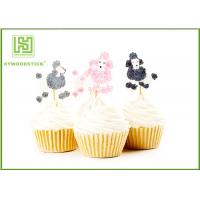 Buy cheap Golden Gold Happy Birthday Cake Topper , Pumpkin Shape Cake Decorating Toppers product