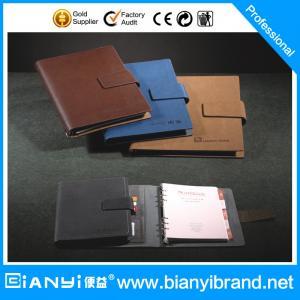 Best selling ring leather loose leaf notebook manufacturer