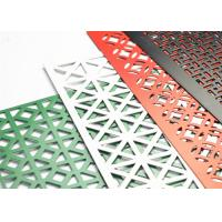 Buy cheap Powder Coated Decorative Perforated Metal Extremely Versatile Large Open Area product