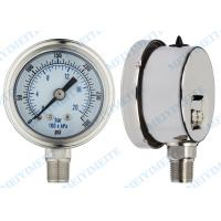 Cheap Oil filled precision pressure gauge / small pressure gauge stainless steel wholesale