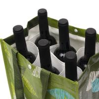 Buy cheap Personalized Reusable Non Woven Wine Bags Collapsible 6 Bottle Wine Tote Bag product