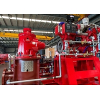 Buy cheap 3500 US GPM Vertical Turbine Pump Driven By Fire Diesel Engine Suitable for Sea Water product