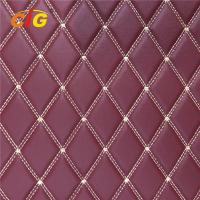 Buy cheap Embroidery PU PVC Leather With High Density Foam With Non-woven For Car Seat Car from wholesalers