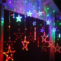 Buy cheap Multicolor Star Moon 0.06w Ip44 Icicle Led String Light Decoration For Weddings product