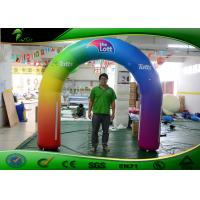Buy cheap Entrance Colorful Inflatable Arches , Advertising Inflatable Rainbow Arch product