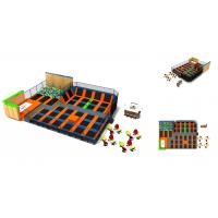Buy cheap 300M2  Gymnastics Trampolinne Park Kids Relax Jumping Indoor Trampoline Park from wholesalers