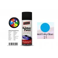 Buy cheap OEM Available Removable Rubber Spray Paint Matt Sky Blue Color For Wheel product