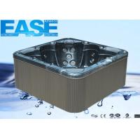 Buy cheap Acrylic Square 3 seats + 2 lounges Outdoor Bathtubs with 1-speed, 3HP Jet Pump product