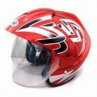 Buy cheap Motorcycle/Open-face Helmet with Dual Flow-through Channels, Available in S, M, L and XL Sizes product