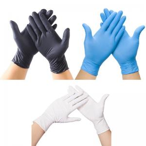 Buy cheap Spot Black Nitrile Gloves Disposable Powder-Free Latex PVC Vinyl Gloves product
